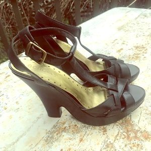 BCBG Girls Black Sandals